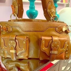 Michael Kors detail gold buckle purse
